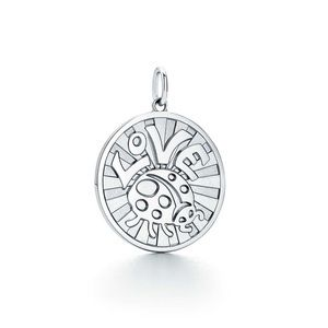 Tiffany & Co. Sterling Silver Love Bug Coin Charm